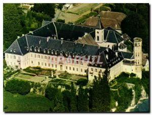 Moderne Karte L'Abbaye d'Hautecombe Savoie Vue aerienne de l'Abbaye