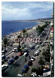 Moderne Karte Nice Capitale Mondiale du Tourisme la prestigieuse Promenade des Anglais Vue vers l'Aeroport