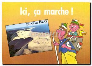 Moderne Karte Ocean Atlantique Pyla sur Mer Gironde La Grande Dune de Pyla la plus haute dune d'Europe au fond