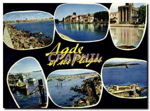 Moderne Karte Agde Herault le grau d'Adge le Cap d'Adge la Cathedrale d'Adge le grau d'Adge le fort Brescou Ad