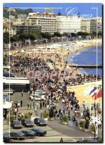 Moderne Karte La Cote d'Azur inoubliable French Riviera Cannes La Croisette pendant le Festival