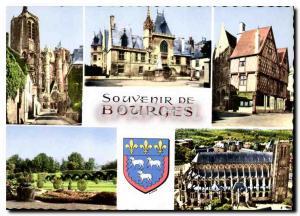 Moderne Karte Souvenir de Bourges