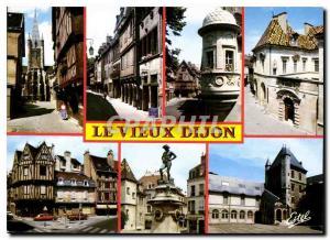 Moderne Karte Dijon Cote d'Or L'angle des rues de la Chouette et Verrerie