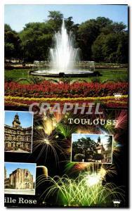 Moderne Karte Toulouse Ville d'Art Cite des Violettes Jardin du Grand Rond