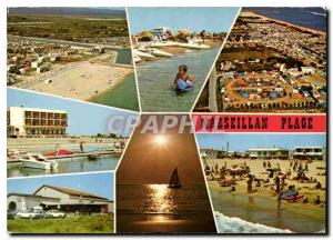 Moderne Karte La Cote Languedocienne Marseillan plage Herault ses campings sa tres belle plage sa cave son sol