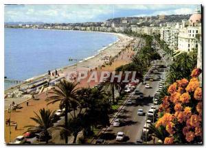 Moderne Karte La Cote d'Azur inoubliable Nice Promenade des Anglais la Plage