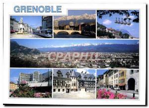 Moderne Karte Grenoble Dauphine France le monument des trois Ordres place Notre Dame le pont Marius Gontard le
