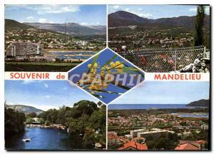 Moderne Karte Mandelieu Souvenir de Mandelieu