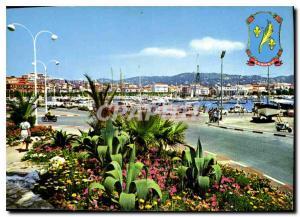 Moderne Karte Cannes Cote d'Azur Vue sur le Port