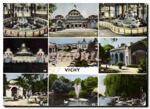 Moderne Karte Vichy Source Grande Grille le Casino source Chomel le Casino la nuit Place de l'Hotel de Ville S