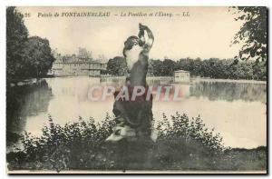 Ansichtskarte AK Palais de Fontainebleau le Pavillon et l'Etang