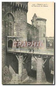 Ansichtskarte AK Vitre I et V Le Pont Levis du Chateau