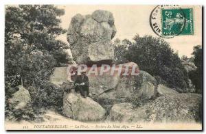 Ansichtskarte AK Fontainebleau La Foret Rochers du Mont Aigu