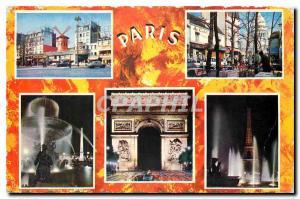 Moderne Karte Paris Montmartre et Paris de Nuit Le Moulin Rouge La Place du Tertre