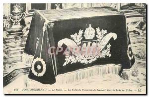 Ansichtskarte AK Fontainebleau Le palais La Table de Prestation de Serment dans la Salle du Trone