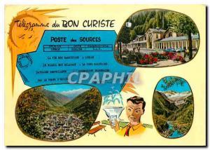 Moderne Karte En Parcourant les Pyrenees Luchon Station Thermale Raine des Pyrenees Les Thermes Vue generale V