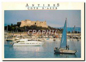 Moderne Karte Cote d'Azur Alpes Maritimes Antibes Le port et le fort Vauban
