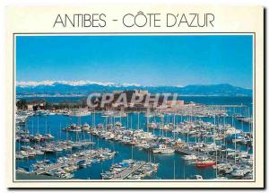 Moderne Karte Cote d'Azur Antibes Alpes Maritimes Le Port Vauban et le Fort Carre