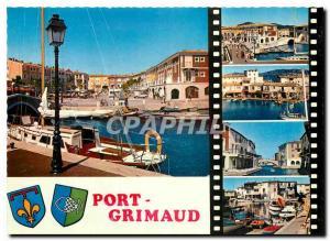 Moderne Karte La Cote d'Azur Varoise Port Grimaud Village situe au fond du Golfe de Saint Tropez est la premie