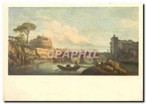 Moderne Karte Peinture Francaise Claude Joseph Vernet Le pont et le chateau de Saint Ange Musee du Louvre