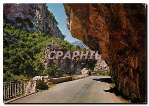 Moderne Karte Cote d'Azur French Riviera Passage dans les Gorges