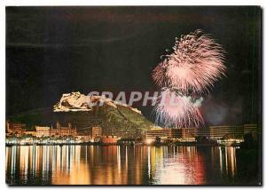Moderne Karte Alicante Alicante la nuit