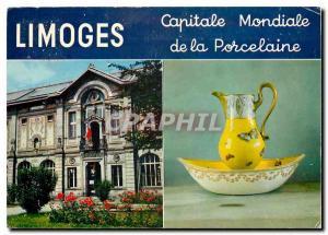 Moderne Karte Limoges Capitale Mondiale de la Porcelaine