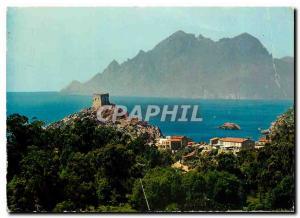 Moderne Karte Couleurs et Lumiere de France La Corse Porto (Corse) La Tour Genoise et le Golfe