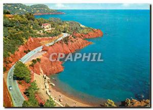 Moderne Karte Cote d'Azur La Corniche d'Or Rochers rouges de l'Esterel