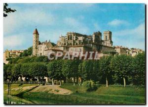 Moderne Karte Auch (Gers) La Basilique Ste Marie et la Tour d'Armagnac vue prise des bords du gers