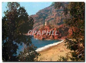 Moderne Karte Couleurs et Lumiere de France La Corse Casis de Beaute Porpo (Corse) La plage et la tour Genoise
