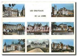Moderne Karte Les Chateaux de la Loire Blois Chenonceaux Chambord Amboise Chaumont sur Loire Cheverny
