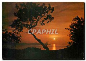 Moderne Karte Cote d'Azur France coucher de soleil en Mediterranee