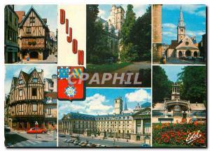 Moderne Karte Au pays des grands Crus Dijon (Cote d'Or) Vieille maison rue Verrerie Le palais des Ducs