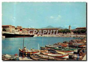 Moderne Karte Nice Le Port et le Courrier pour la Corse Bateau