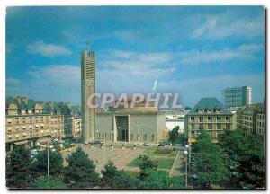 Moderne Karte Lorient Morbihan Place Alsace Lorraine l'Eglise Notre Dame des Victoires