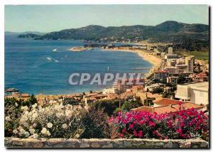 Moderne Karte La Cote d'Azur Varoise Le Lavandou Var Vue generale sur le Lavandou la Pointe du Gouron