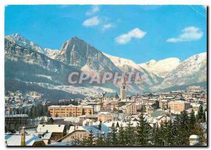 Moderne Karte Dolomites Cortina Col Rosa e Croda del Beco