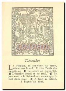 Moderne Karte Decembre Le grant kalendrier et comport des Bergiers