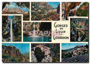 Moderne Karte Cote d'Azur French Riviera Les Gorges du Loup L'arriere pays pittoresque