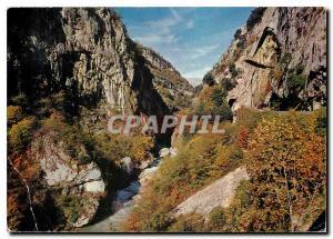 Moderne Karte Cote d'Azur French Riviera Excursion des Gorges du Loup