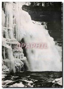 Moderne Karte Villers le Lac Le Saut du Doubs en hiver
