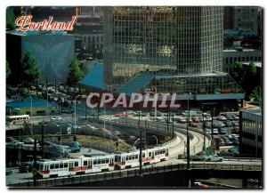 Moderne Karte Downtown Portland and brand new light rail called MAX - entering downtown from the Steel Bridge