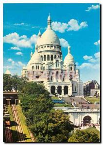 Moderne Karte Paris La Basilique du Sacre Coeur