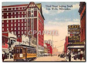 Moderne Karte Third Street looking South from Wells Milwaukee