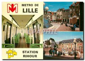 Moderne Karte Le m�tro de Lille station Rihour