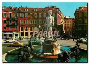 Moderne Karte Cote d'Azur Nice Place Massena La Fontaine du Soleil