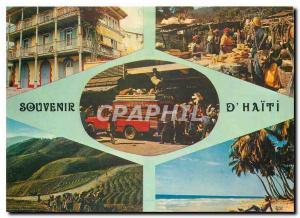 Moderne Karte Souvenir d'Haiti