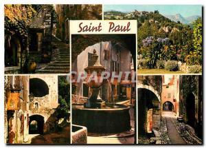 Moderne Karte Saint Paul La Cote d'Azur St Paul de Vence
