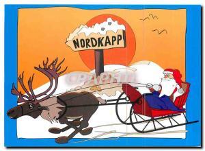Moderne Karte Nordkapp Rudi reinsdyret